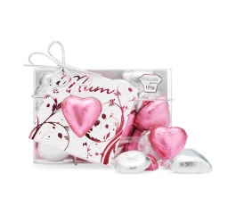 Chocolate Gems Mum Hearts and Drops with Card 120g