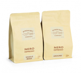 Byron Bay Coffee Nero Espresso Whole Bean or Ground 250g