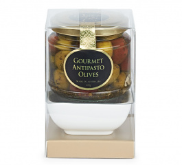 Ogilvie & Co Gourmet Antipasto Olive Bowl Set 200g