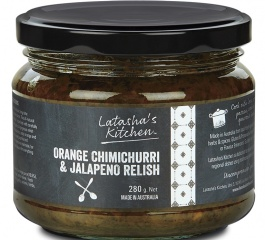 Latasha's Kitchen Orange Chimichurri and Jalapeno Relish 280g