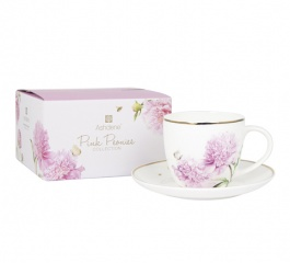 Ashdene Pink Peonies Cup and Saucer Set