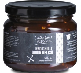 Latasha's Kitchen Red Chilli Onion Relish 340g
