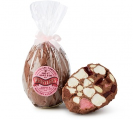 Whistlers Rocky Road Egg - Milk Choc Turkish Delight and Almond 300g