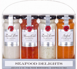 Ogilvie & Co Seafood Delights Quad Pack