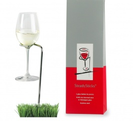 Steady Sticks Wine Glass Holders - 2 pack