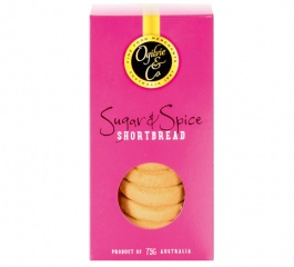 Ogilvie & Co Sugar and Spice Shortbread 75g