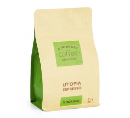 Byron Bay Coffee Utopia Espresso Ground 250g
