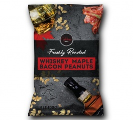 Wicked Nuts Whiskey Maple Bacon Peanuts 120g