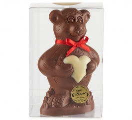 Whistlers Chocolate Love Heart Bear 250g