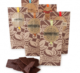 Whistlers Dark Chocolate Bark Range 120g
