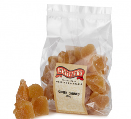 Whistlers Ginger Chunks 300g