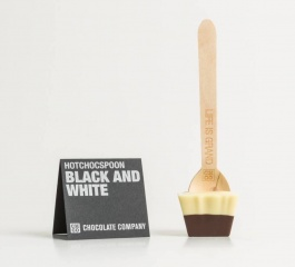 Chocolate Co Black and White Dark/White Chocolate Spoon 50g