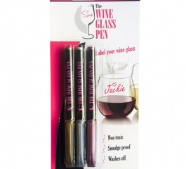 The Wine Glass Pen - Pack of 3