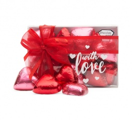 Chocolate Gems With Love Hearts 120g