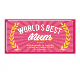 Bellaberry Worlds Best Mum Milk Chocolate 100g