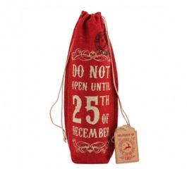 Christmas Hessian Wine Bags - 3 Designs